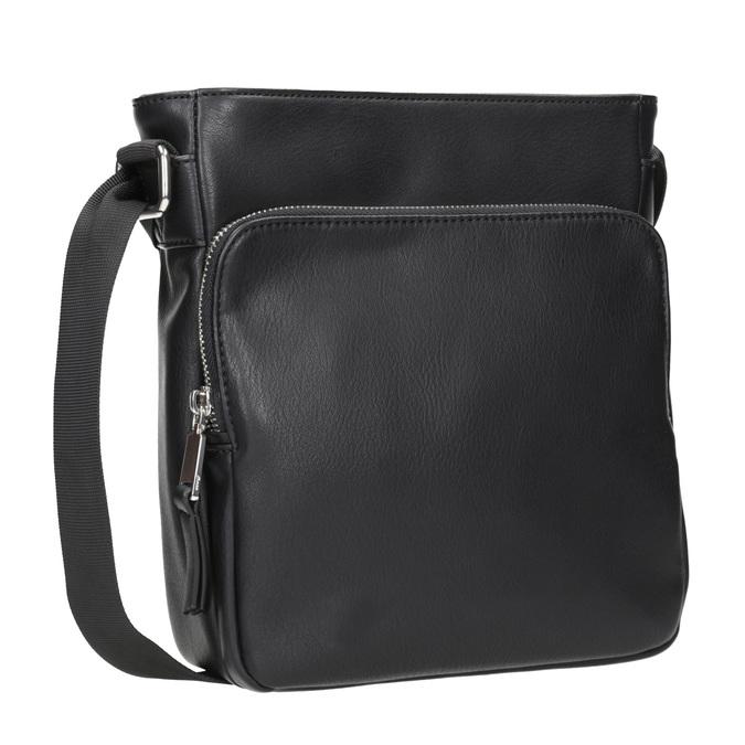 Pánská Crossbody taška s kapsou bata, černá, 961-6837 - 13