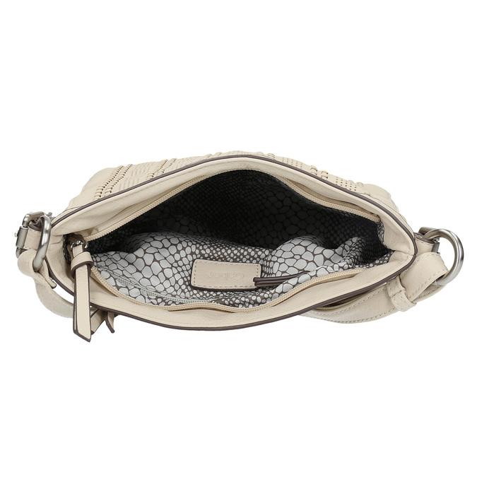 Crossbody kabelka s perforovaným vzorem gabor-bags, béžová, 961-8014 - 15