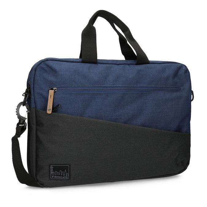 Černo-modrá taška na notebook roncato, modrá, 969-9698 - 13