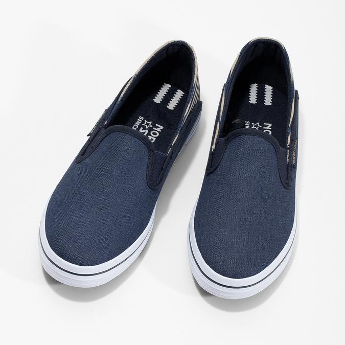 Dětské Slip-on v denimovém stylu north-star, modrá, 419-9615 - 16