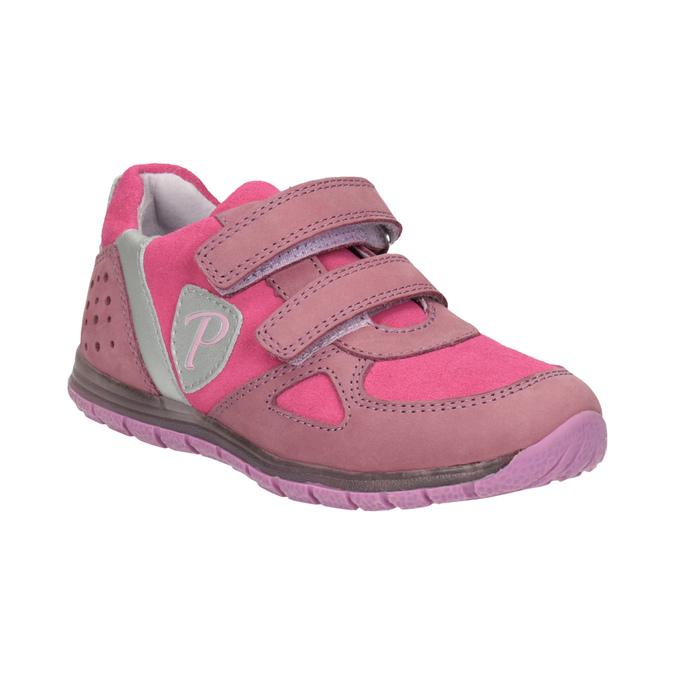 Dívčí růžové tenisky z kůže mini-b, růžová, 223-5605 - 13