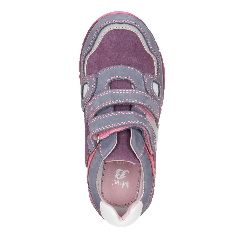 Mini B Dívčí kožené tenisky na suché zipy - Nízké  2958d4dbe5