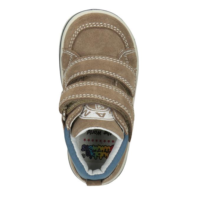 Dětská kotníčková kožená obuv bubblegummers, hnědá, 113-4607 - 15