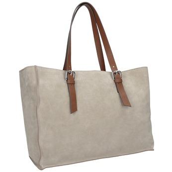 Kožená kabelka béžovo-hnědá bata, béžová, 963-8194 - 13