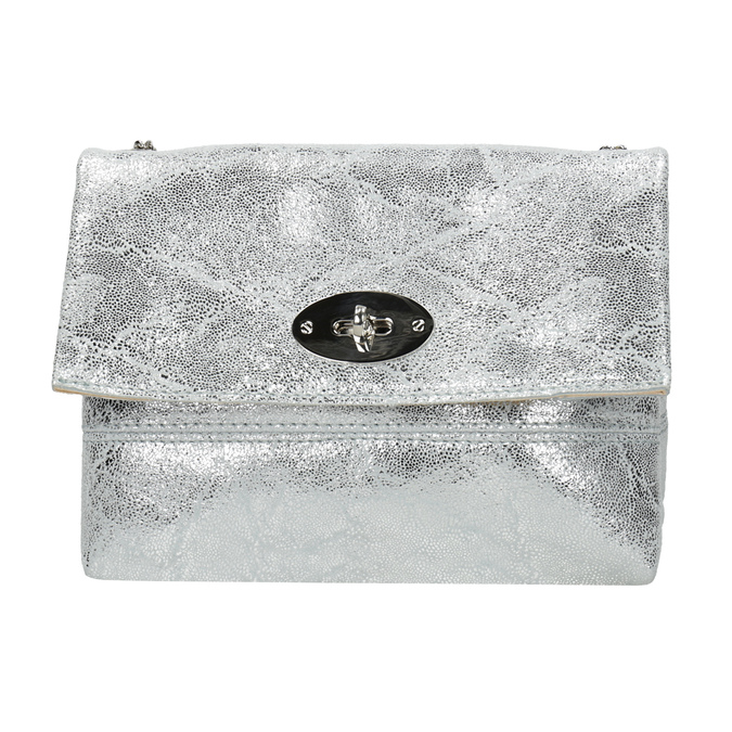 Stříbrná kožená Crossbody kabelka bata, 964-1239 - 26