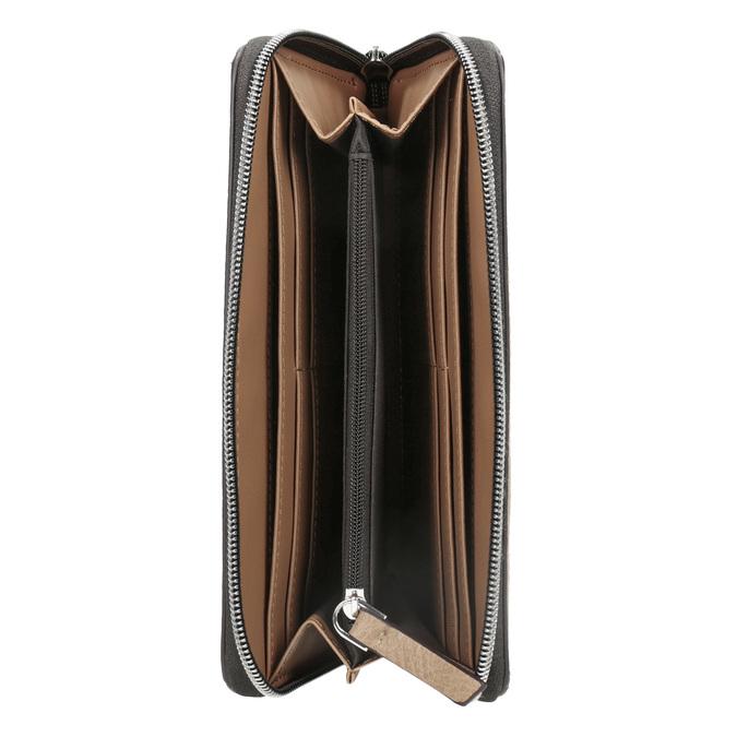 Dámská béžová peněženka s průstřihy bata, hnědá, 941-4157 - 15
