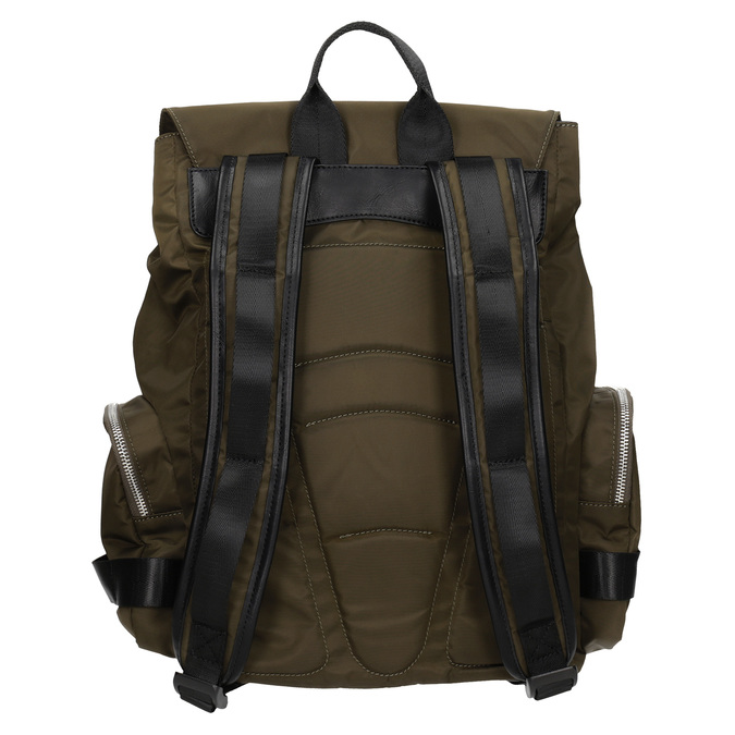 Textilní pánský batoh khaki atletico, khaki, 969-3677 - 16