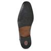 Pánské kožené polobotky s prošitím na špici bugatti, černá, 824-6017 - 18