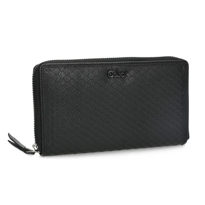 Kožená dámská peněženka se šupinami gabor-bags, černá, 946-6002 - 13