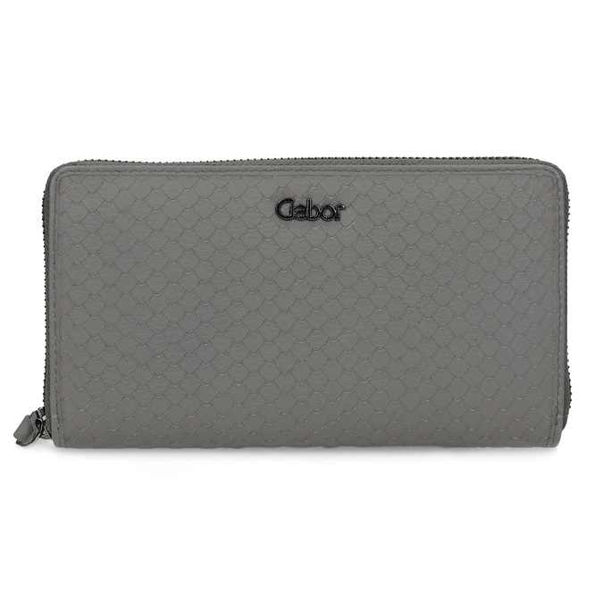 Kožená šedá peněženka dámská gabor-bags, šedá, 946-8002 - 26