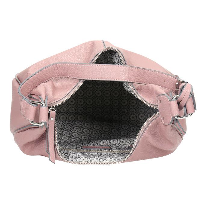 Růžová dámská kabelka v Hobo stylu gabor-bags, růžová, 961-5439 - 15