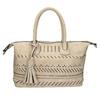 Dámská kabelka s perforací a střapcem bata, béžová, 961-8827 - 26