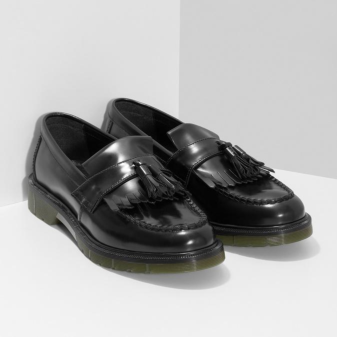 Kožené pánské mokasíny na výrazné podešvi bata, černá, 814-6176 - 26