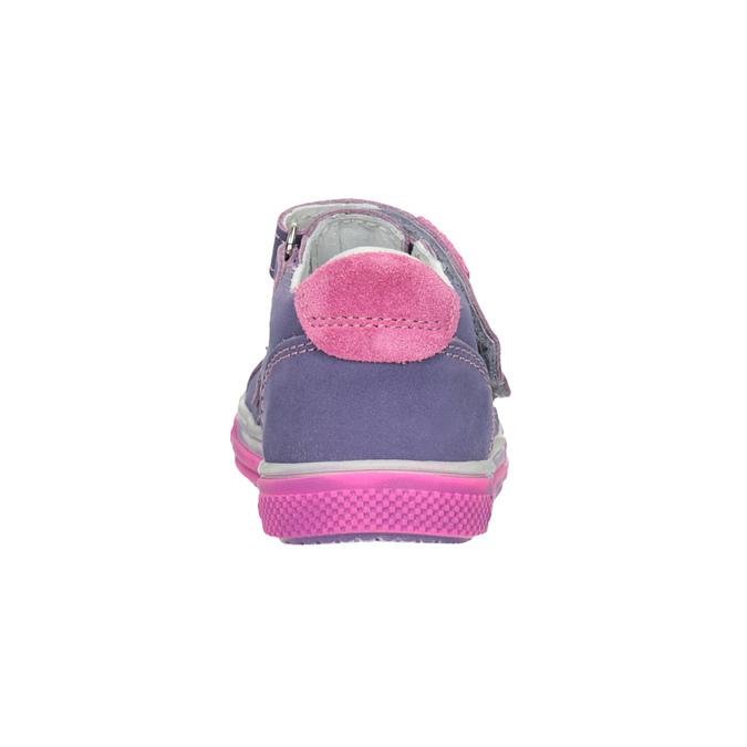 Dětské kožené boty na suché zipy bubblegummers, fialová, 126-9601 - 16