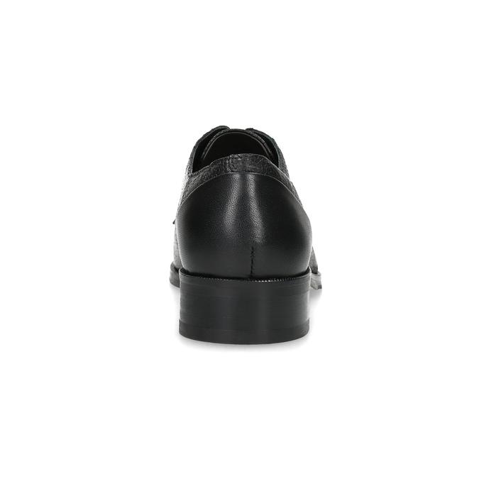 Kožené dámské polobotky do špičky royal-republiq, černá, 524-6011 - 15