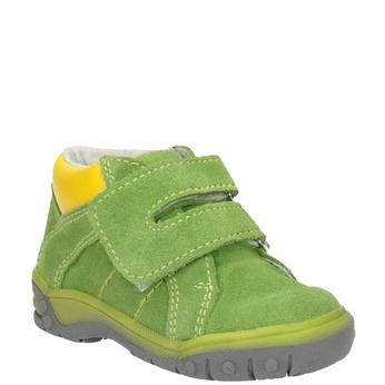 Dětská kotníčková obuv z broušené kůže bubblegummers, zelená, 113-7608 - 13