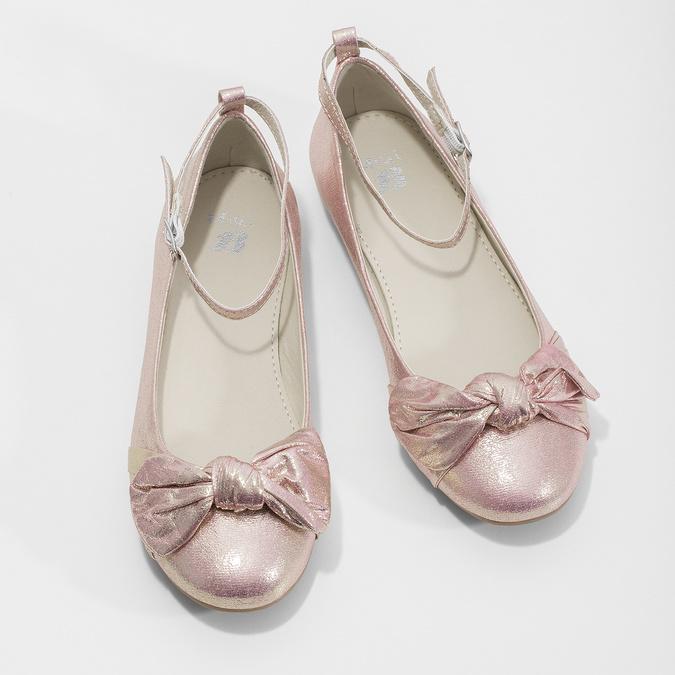 Růžové baleríny s velkou mašlí mini-b, růžová, 329-5227 - 16