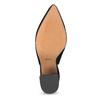 Kožené lodičky s volnou patou bata, černá, 723-6606 - 18