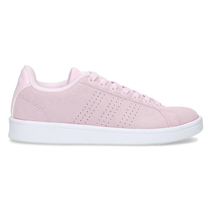 Růžové kožené tenisky dámské adidas, růžová, 503-5478 - 19