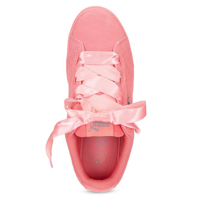 Růžové kožené tenisky na flatformě puma, růžová, 503-5737 - 17