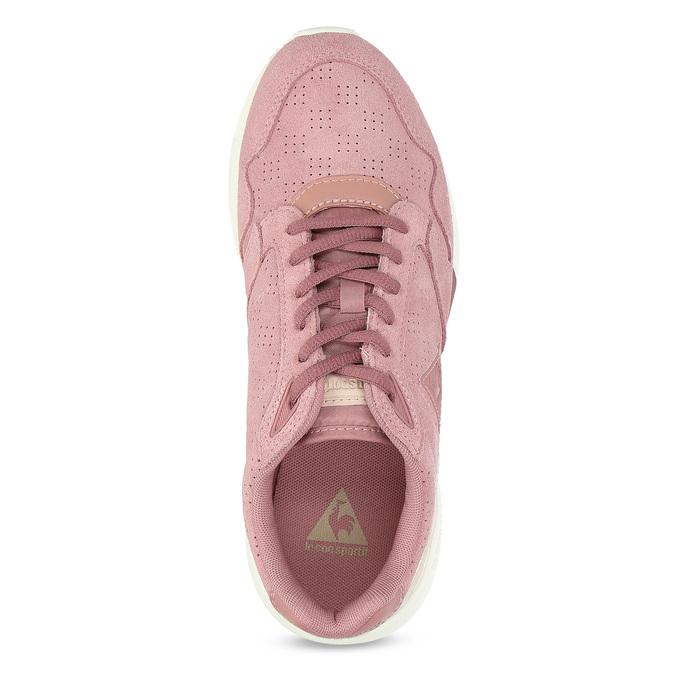 Růžové dámské tenisky z broušené kůže le-coq-sportif, růžová, 503-5309 - 17