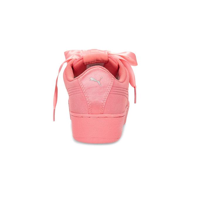 Růžové kožené tenisky na flatformě puma, růžová, 503-5737 - 15