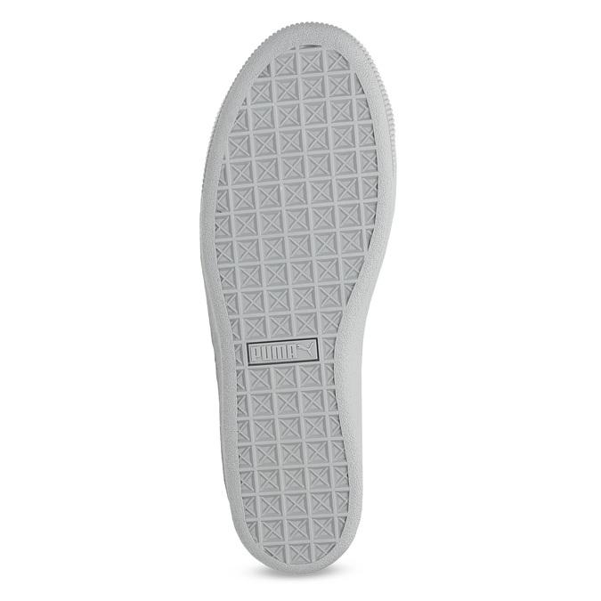Kožené tenisky s mašlí na flatformě puma, šedá, 503-2737 - 18