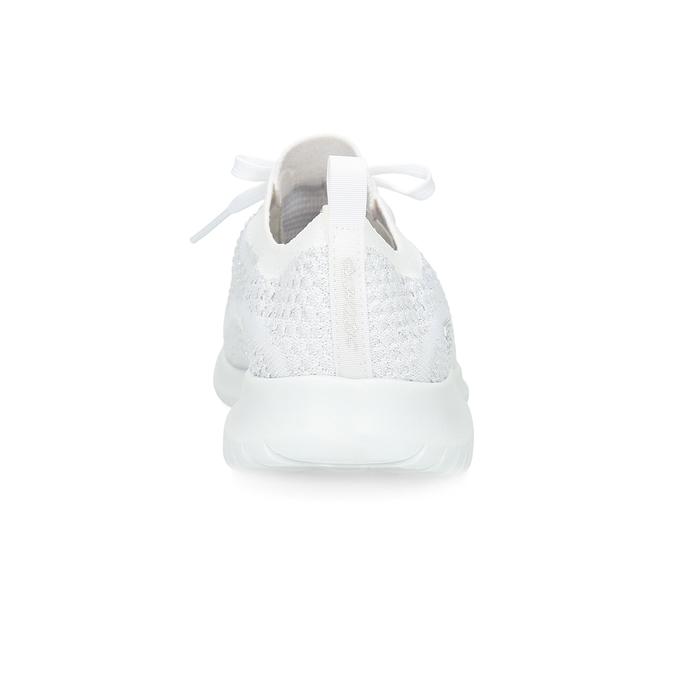 Bílé úpletové tenisky dámské skechers, bílá, 509-1992 - 15