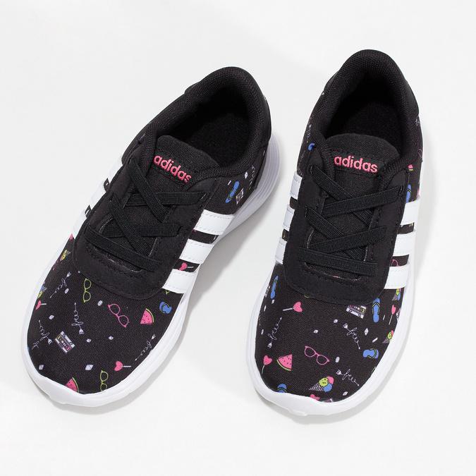 Dětské tenisky s barevným potiskem adidas, černá, 109-6388 - 16