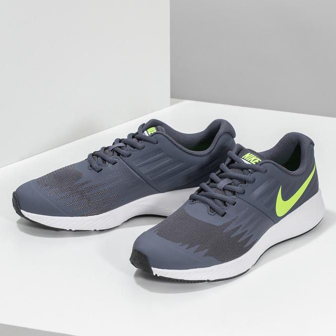 Dětské tenisky sportovního střihu nike, šedá, 409-9189 - 16
