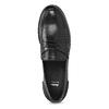 Kožené pánské mokasíny černé bata, černá, 814-6128 - 17