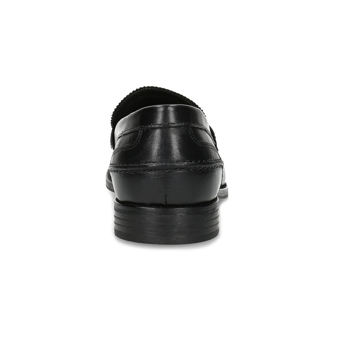 Kožené pánské mokasíny černé bata, černá, 814-6128 - 15