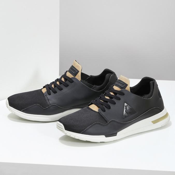Černo-zlaté pánské tenisky le-coq-sportif, černá, 801-6234 - 16