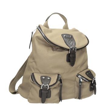 Textilní batoh s kapsami bata, béžová, 969-8685 - 13