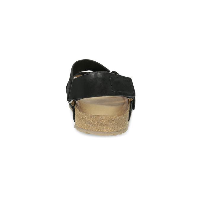 Pánské kožené sandály bata, černá, 866-6646 - 15
