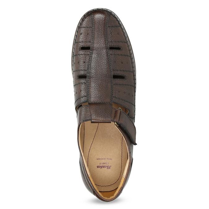 Pánské kožené sandály s pohodlnou podešví comfit, hnědá, 854-4602 - 17