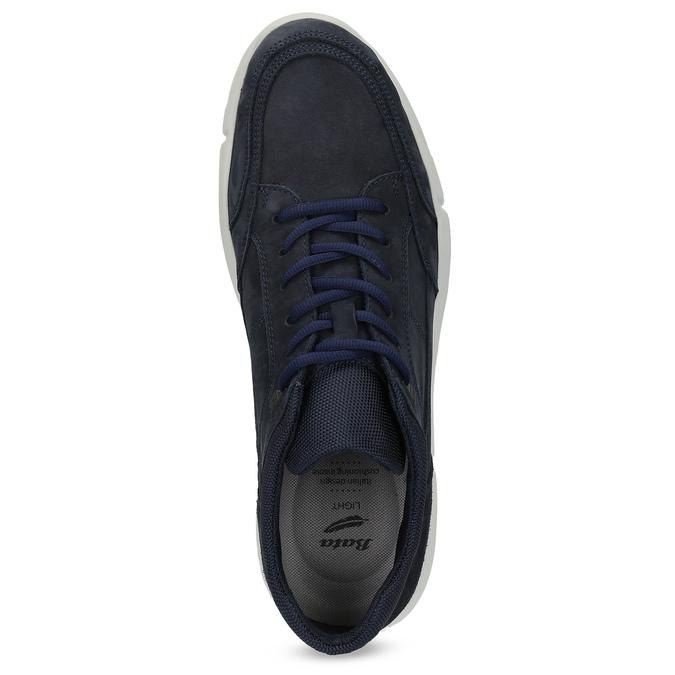 Ležérní tenisky z broušené kůže modré bata-light, modrá, 846-9712 - 17