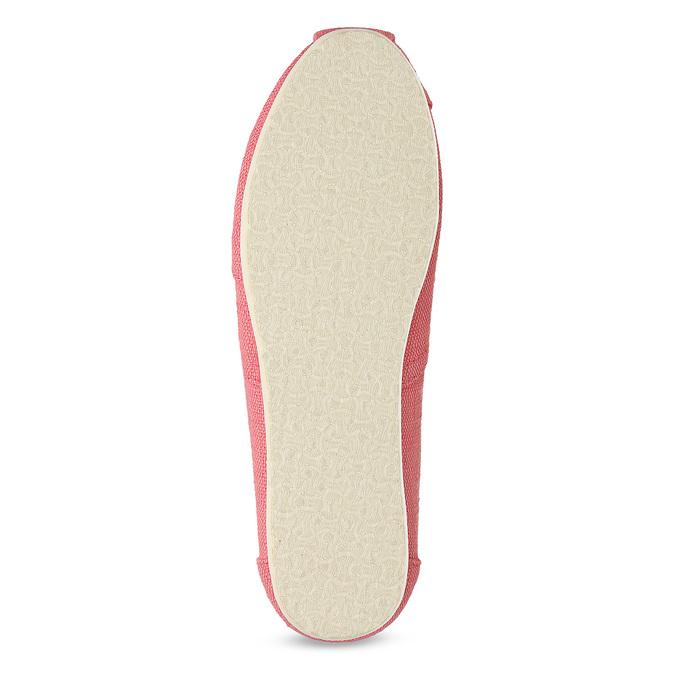 Růžové dámské slip-on toms, růžová, 519-5017 - 18