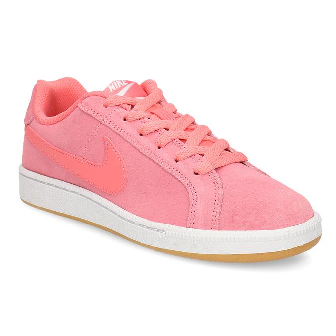 Kožené růžové dámské tenisky nike, růžová, 503-5862 - 13