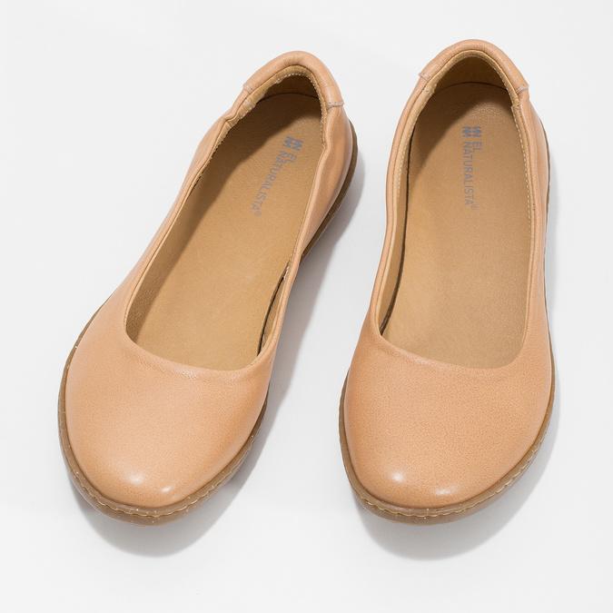 Kožené béžové dámské baleríny el-naturalista, béžová, 526-8011 - 16