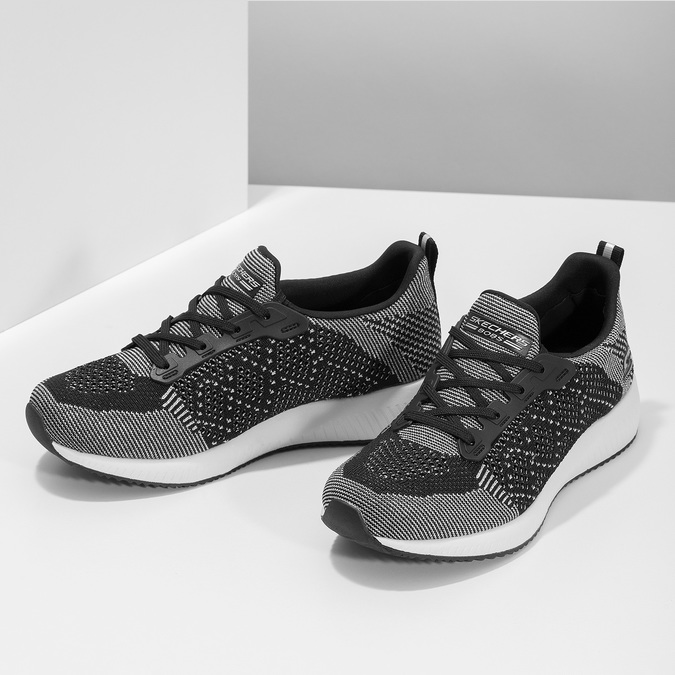 Dámské černo-bílé tenisky skechers, černá, 509-6990 - 16