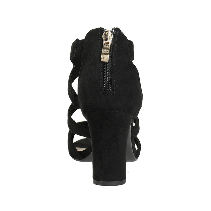 Černé sandály na stabilním podpatku insolia, černá, 769-6617 - 15