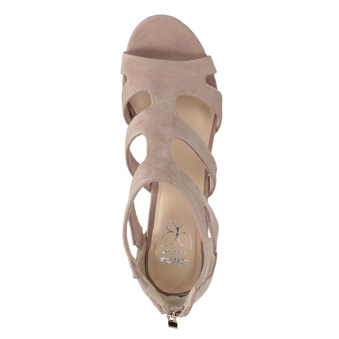 Růžové sandály na stabilním podpatku insolia, růžová, 769-5617 - 17