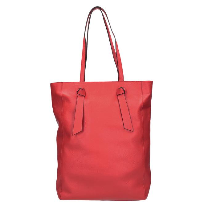Červená kožená kabelka ve stylu shopping bag bata, červená, 964-5297 - 26