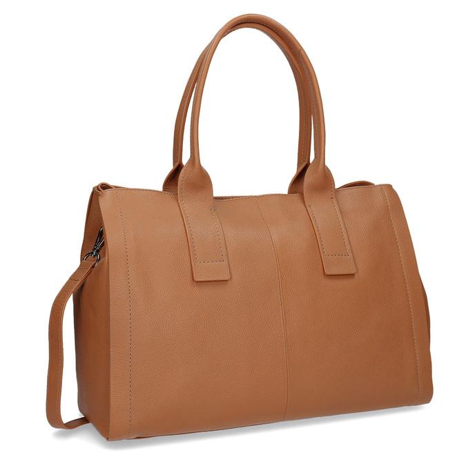Světle hnědá kožená kabelka bata, hnědá, 964-3298 - 13