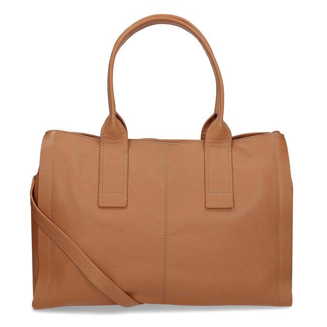 Světle hnědá kožená kabelka bata, hnědá, 964-3298 - 16