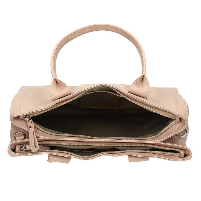 Světle béžová kožená kabelka bata, béžová, 964-8298 - 15