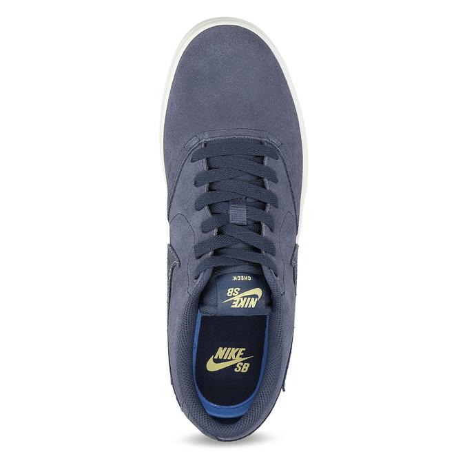 Pánské kožené tenisky modré nike, modrá, 803-9712 - 17