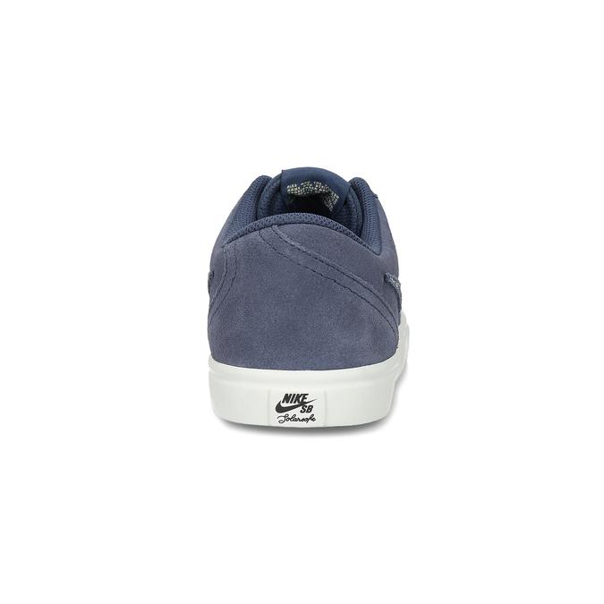 Pánské kožené tenisky modré nike, modrá, 803-9712 - 15