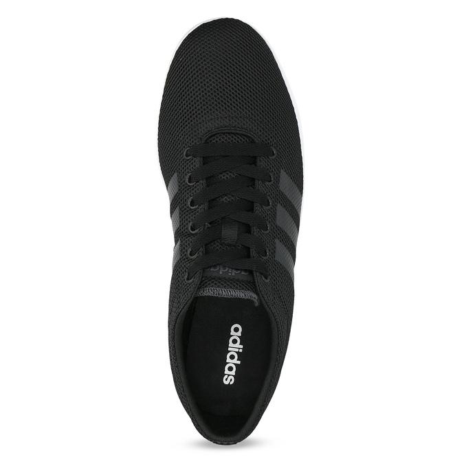 Pánské černé tenisky síťované adidas, černá, 809-6422 - 17